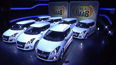 Seven Suzuki Swift in Schlag den Raab